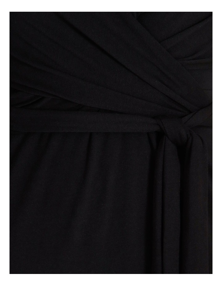 Long Sleeve Wrap Waist Midi Dress image 6