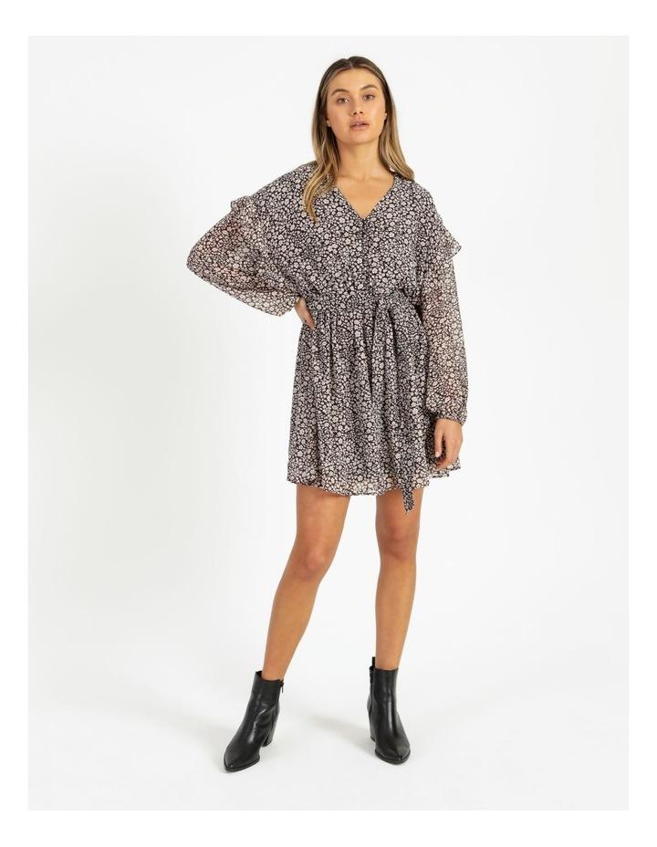 Ditsy Long Sleeve Mini Dress image 1