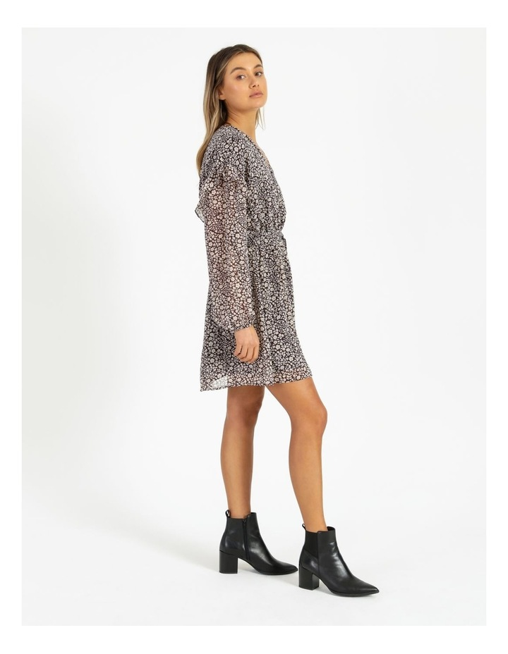 Ditsy Long Sleeve Mini Dress image 2