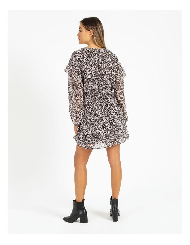 Ditsy Long Sleeve Mini Dress image 3