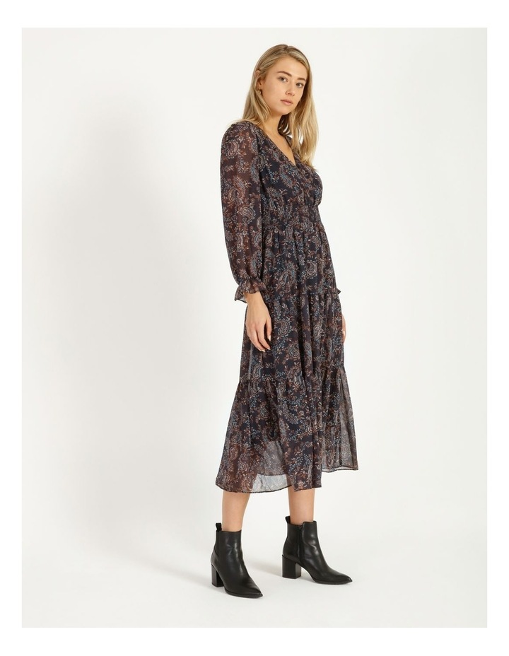 Shirred Waist Long Sleeve Dress image 2