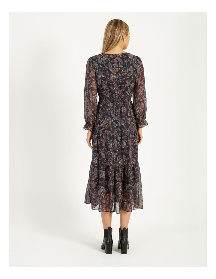 Shirred Waist Long Sleeve Dress image 3