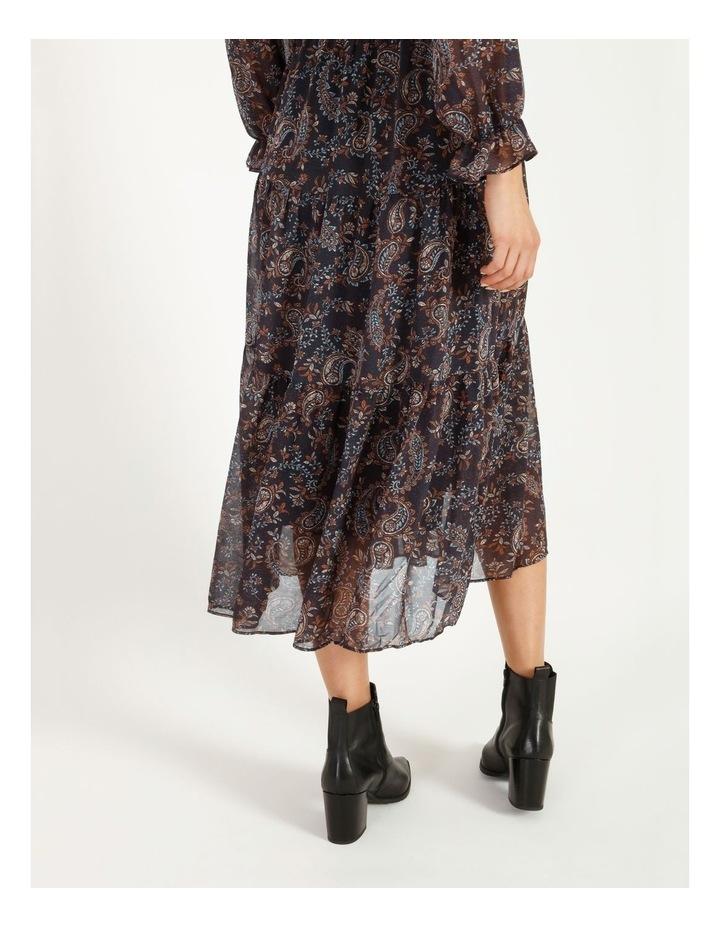 Shirred Waist Long Sleeve Dress image 4