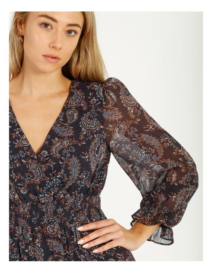 Shirred Waist Long Sleeve Dress image 5