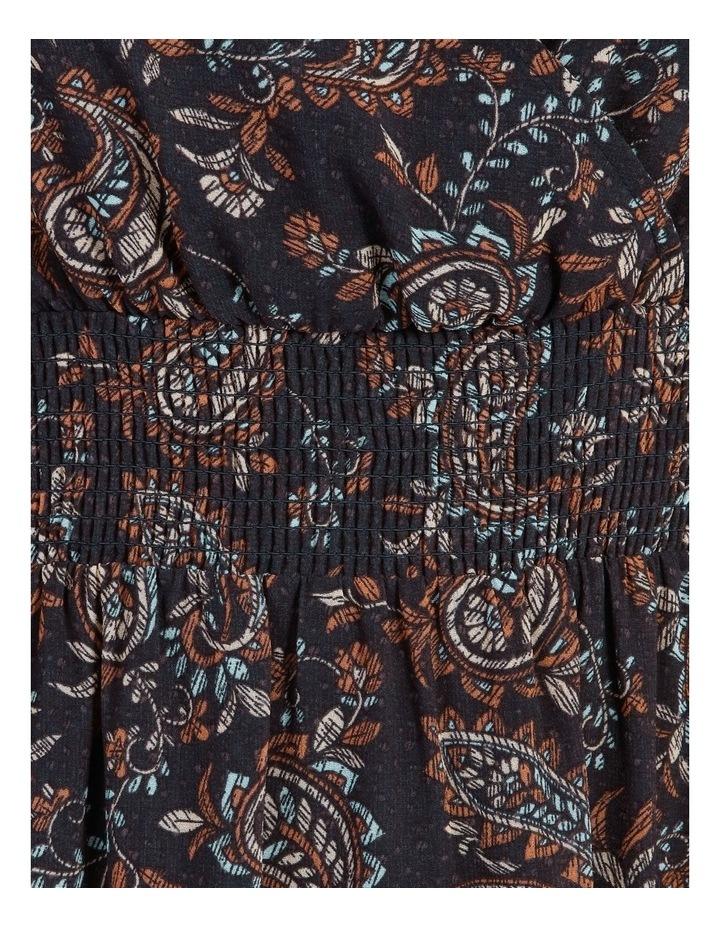 Shirred Waist Long Sleeve Dress image 6