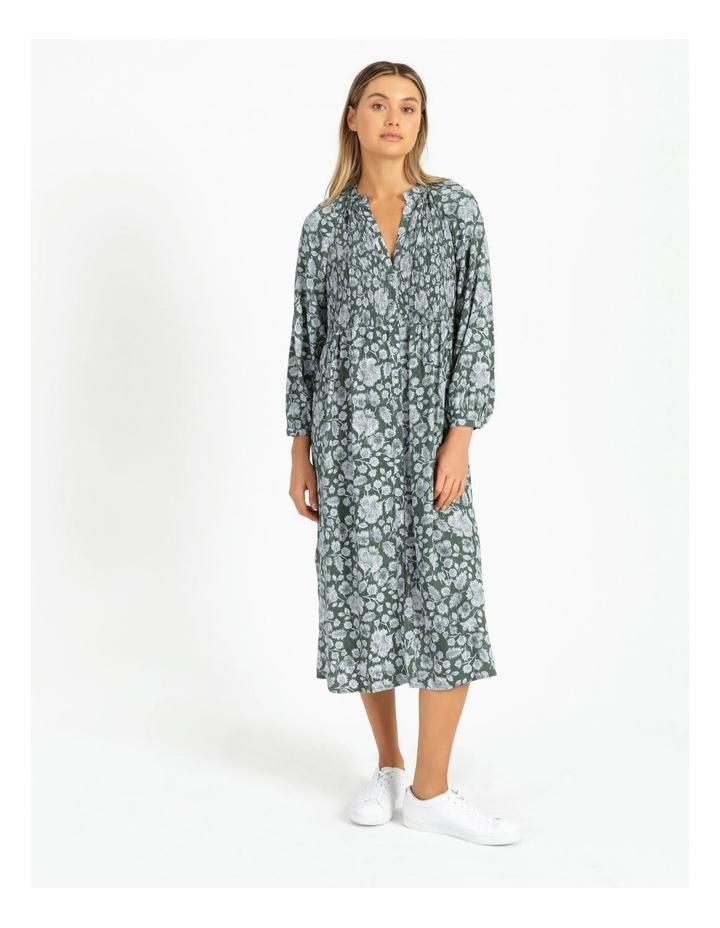 Shirred Bodice Midi Dress image 1