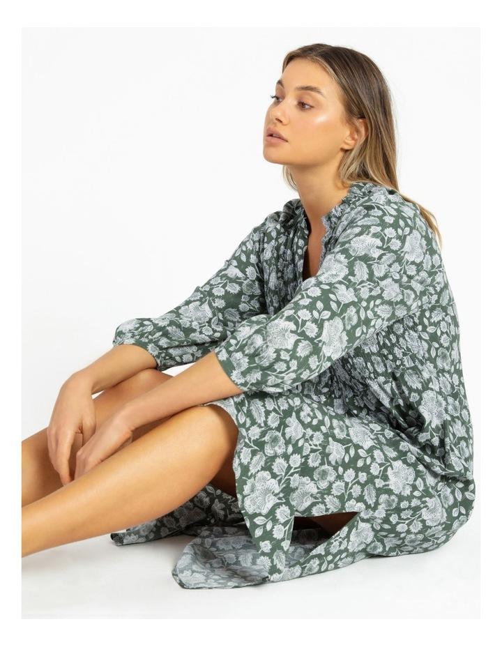 Shirred Bodice Midi Dress image 2