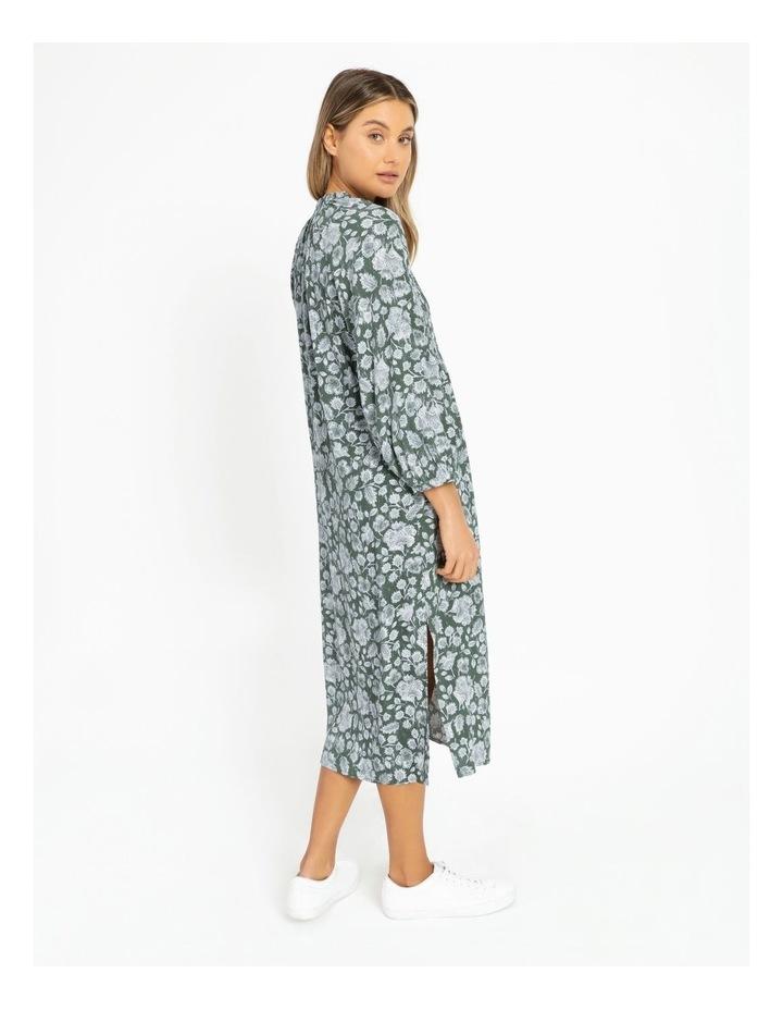 Shirred Bodice Midi Dress image 4