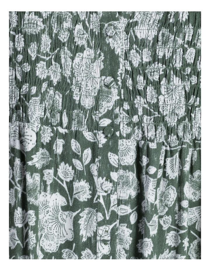 Shirred Bodice Midi Dress image 6
