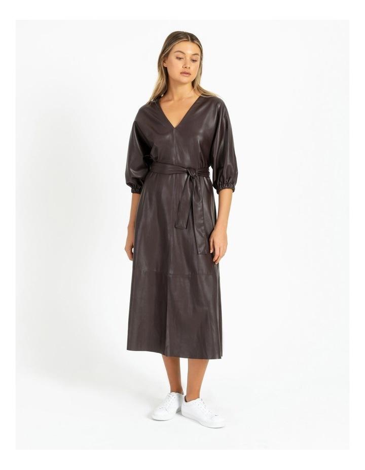 PU Midi Dress image 1