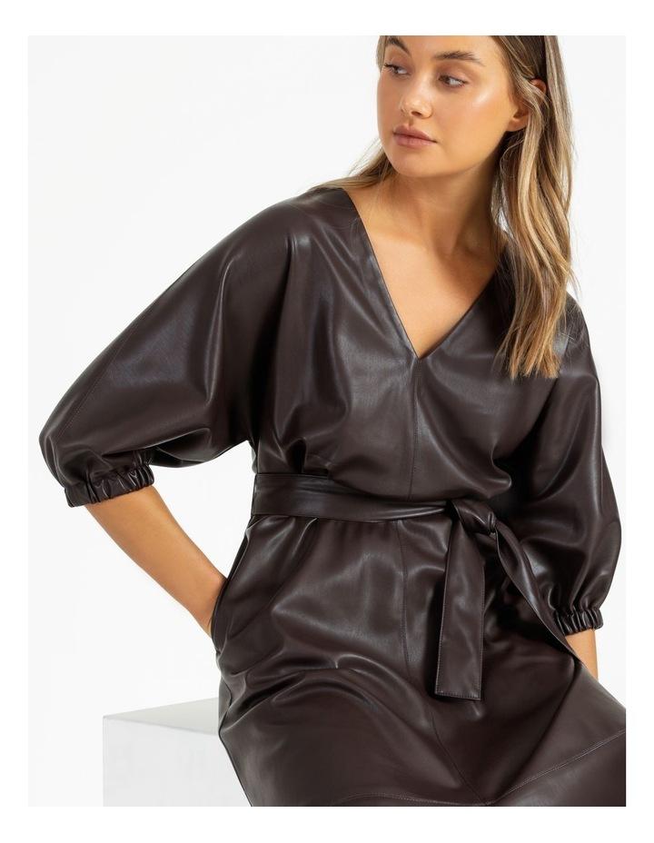 PU Midi Dress image 3