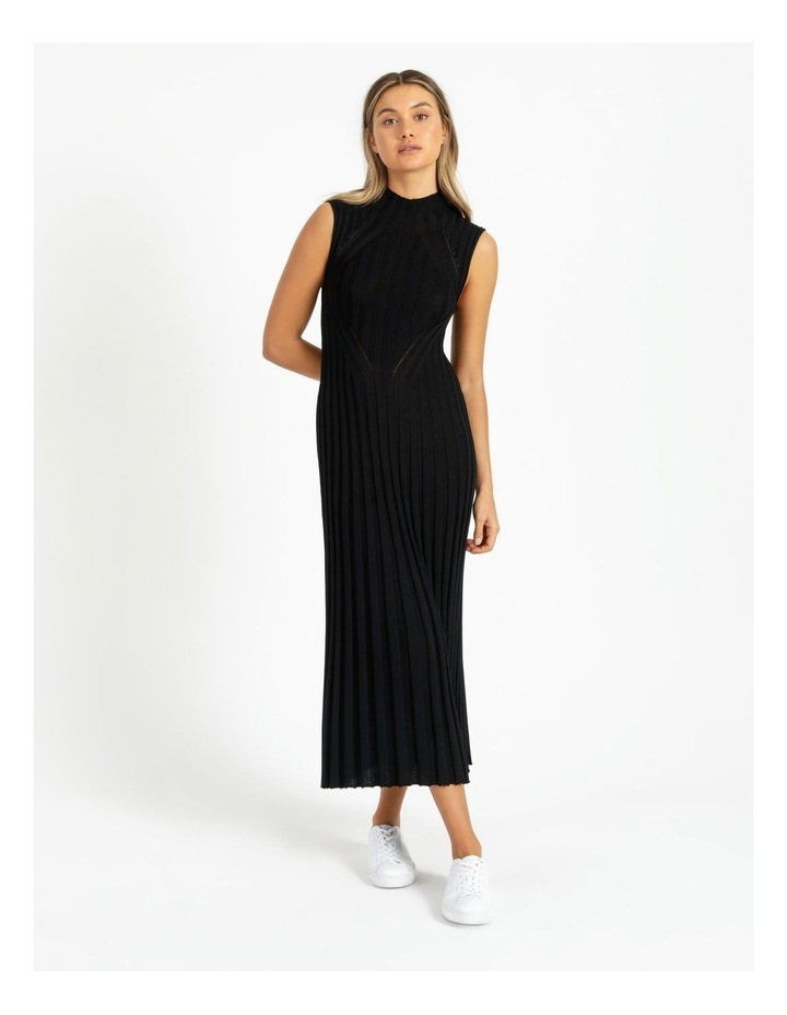 Stripe Knit Midi Dress image 1