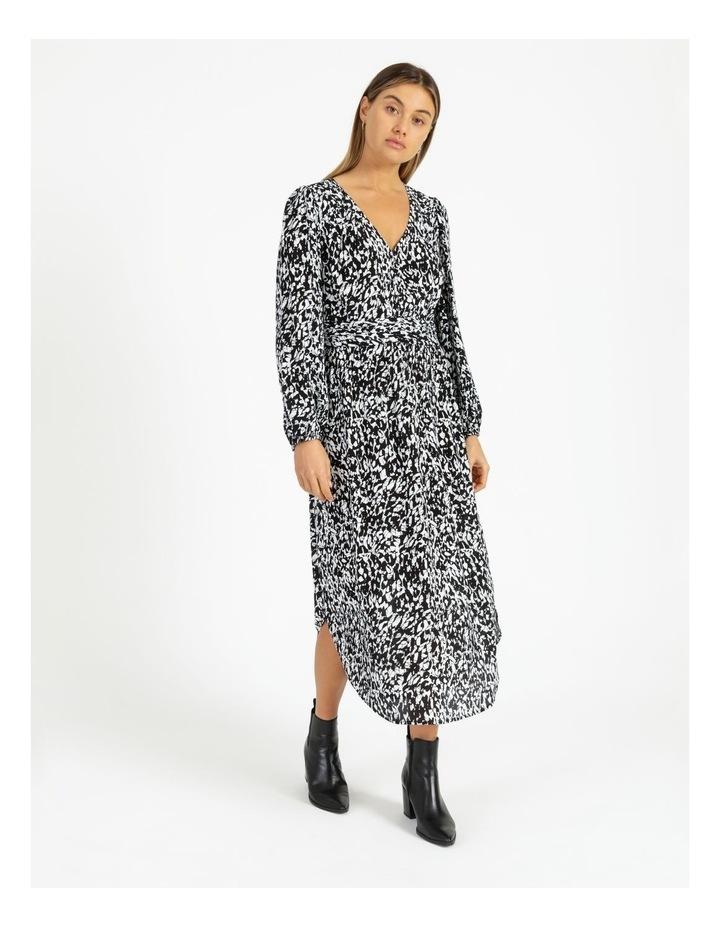Button Front Tuck Midi Dress - Print image 1