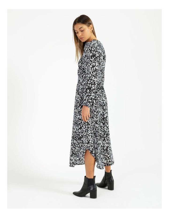 Button Front Tuck Midi Dress - Print image 4