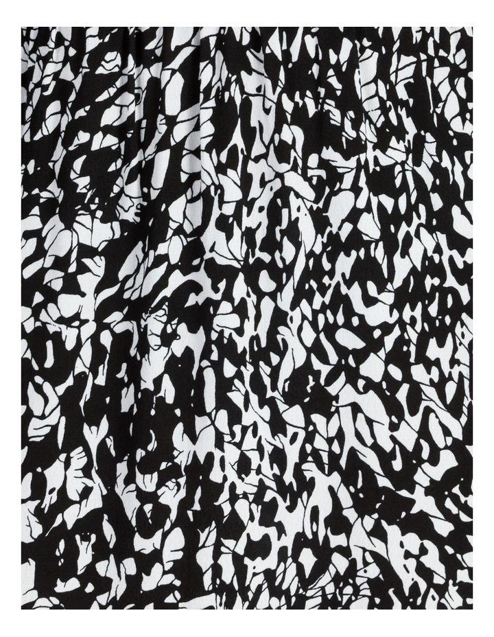 Button Front Tuck Midi Dress - Print image 5