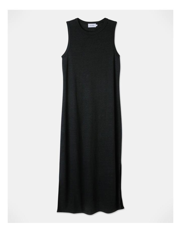 Linen Midi Jersey Dress image 1
