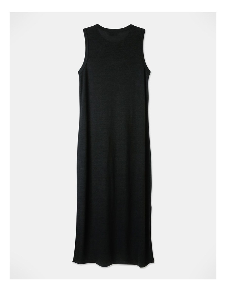 Linen Midi Jersey Dress image 3