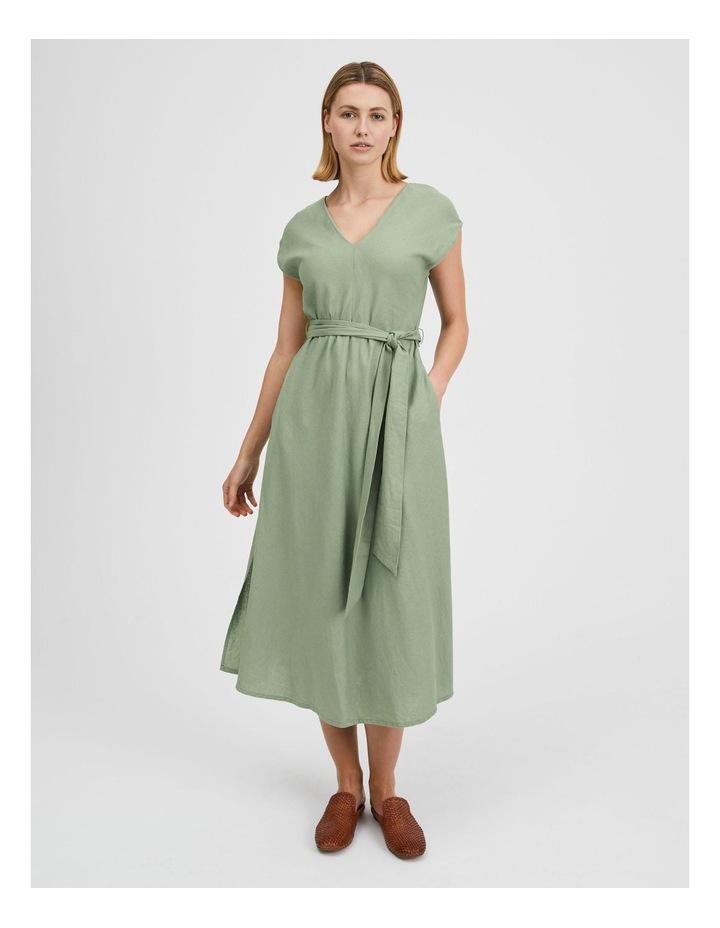 Organic Linen Sleeveless Dress Iceberg image 1