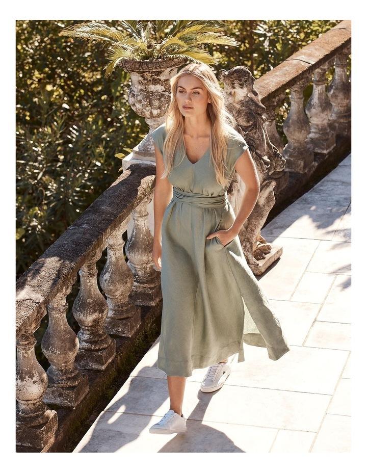 Organic Linen Sleeveless Dress Iceberg image 2