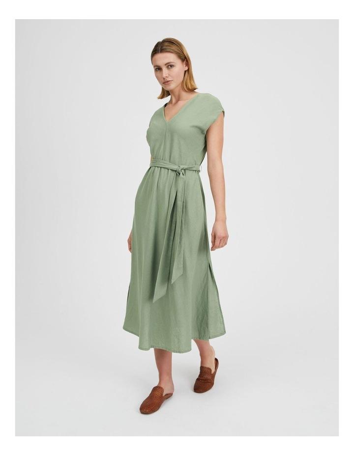 Organic Linen Sleeveless Dress Iceberg image 3