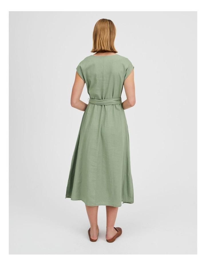 Organic Linen Sleeveless Dress Iceberg image 4