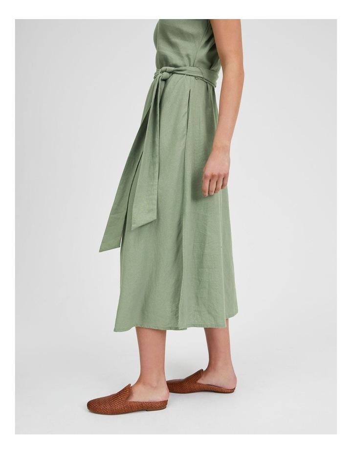 Organic Linen Sleeveless Dress Iceberg image 5