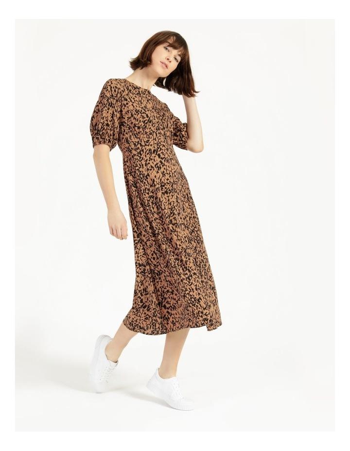 Printed Crepe Midi Dress image 2