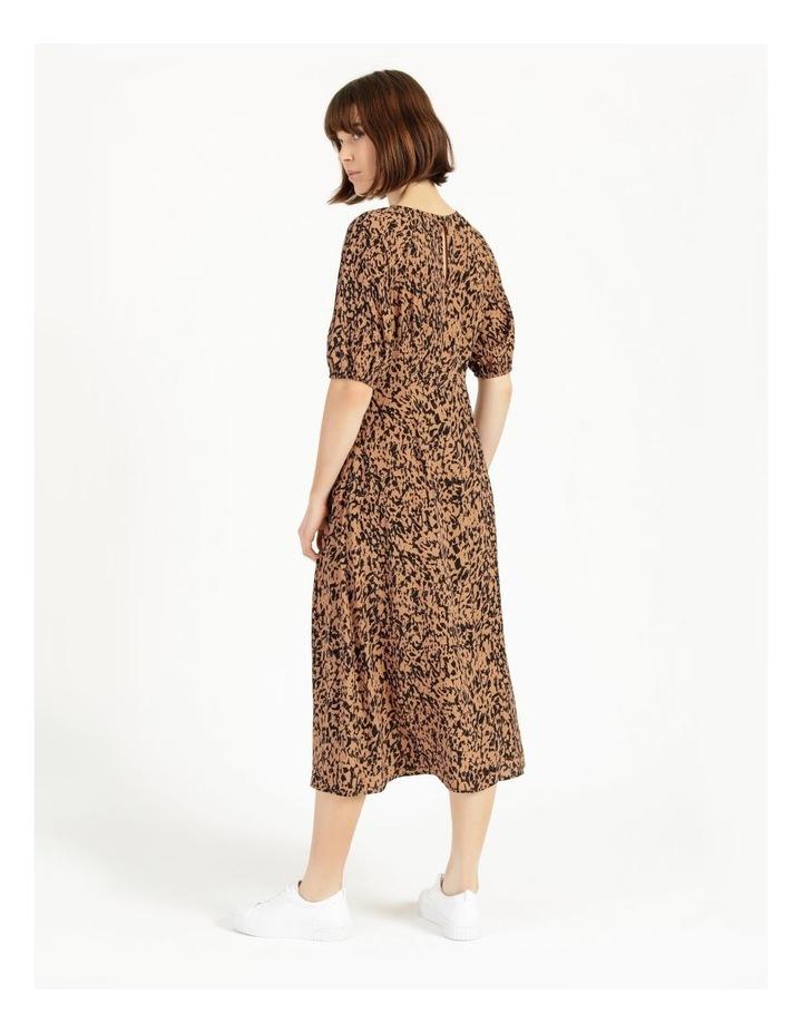 Printed Crepe Midi Dress image 3