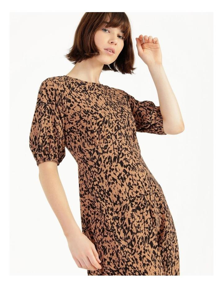 Printed Crepe Midi Dress image 4
