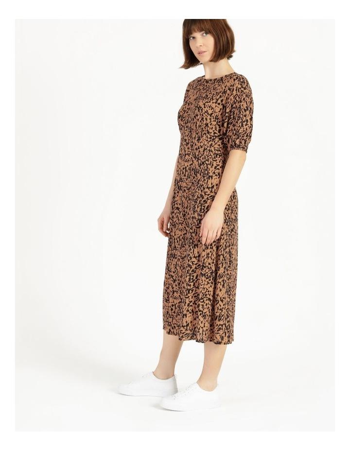 Printed Crepe Midi Dress image 5
