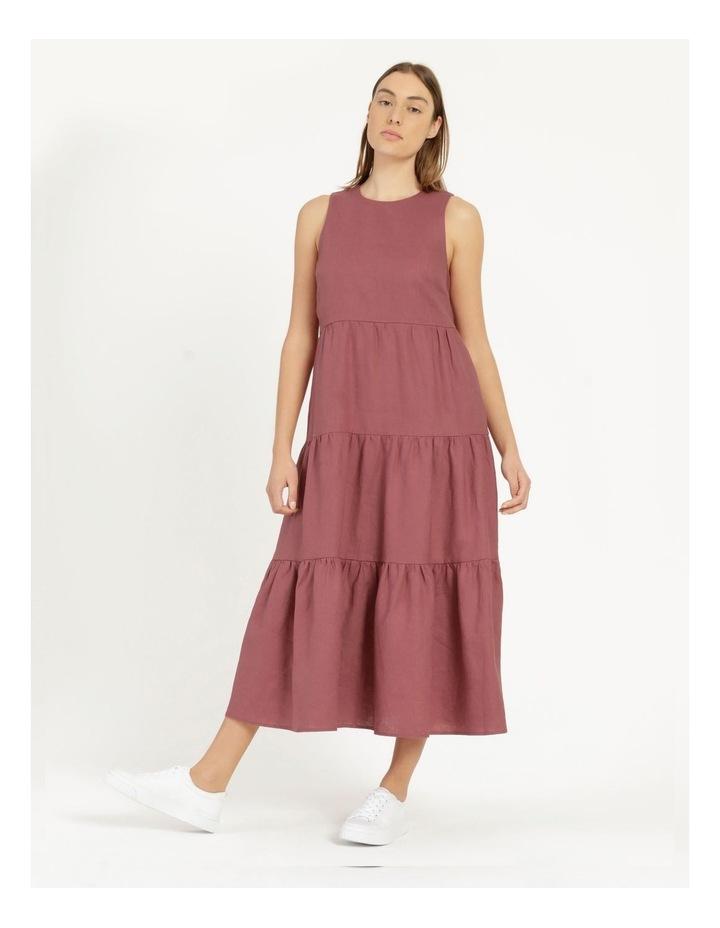 Organic Linen Tiered Tank Dress image 3