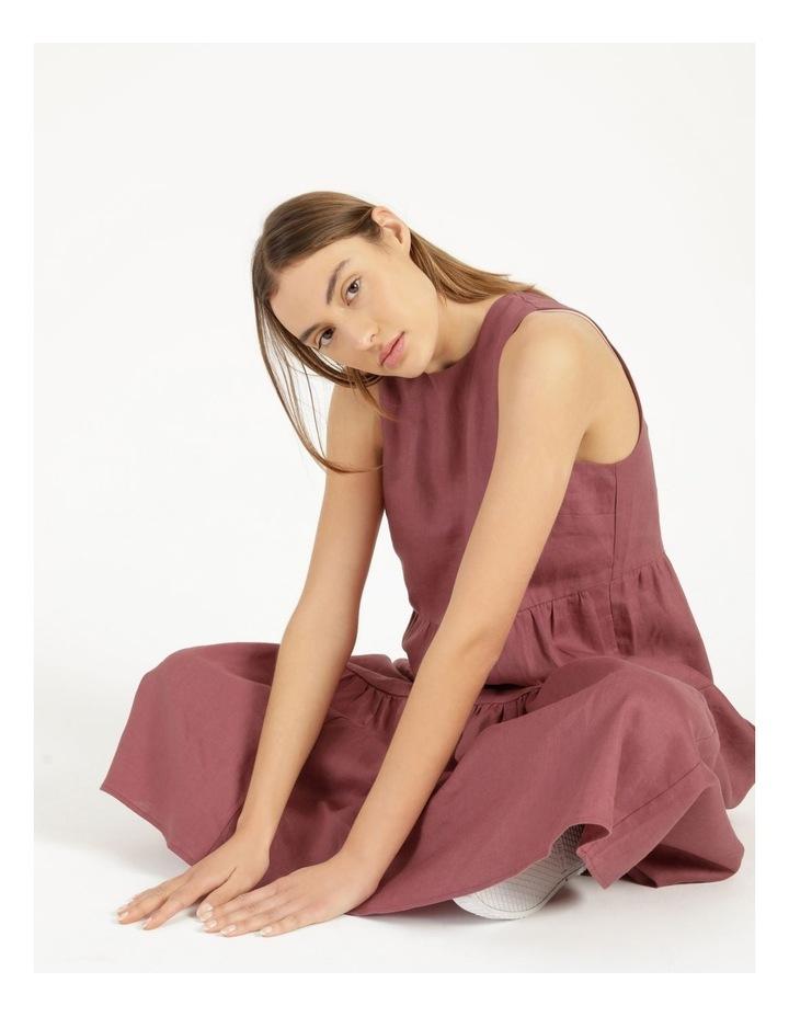 Organic Linen Tiered Tank Dress image 4