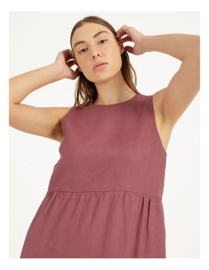 Organic Linen Tiered Tank Dress image 5
