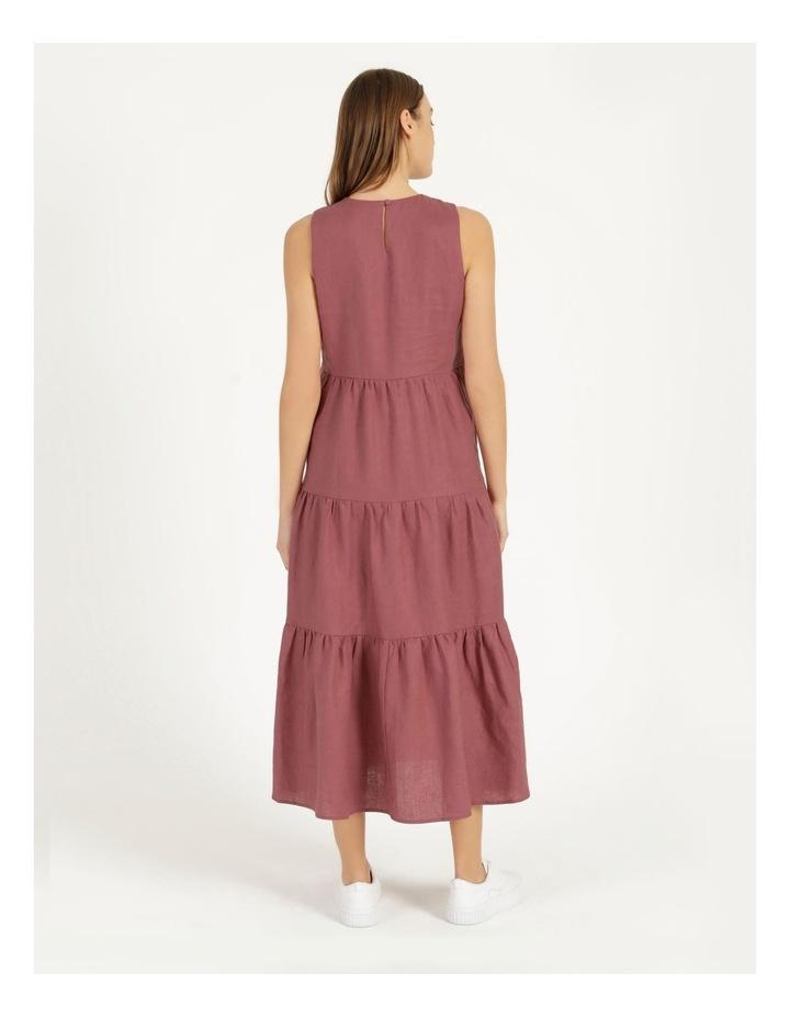 Organic Linen Tiered Tank Dress image 6