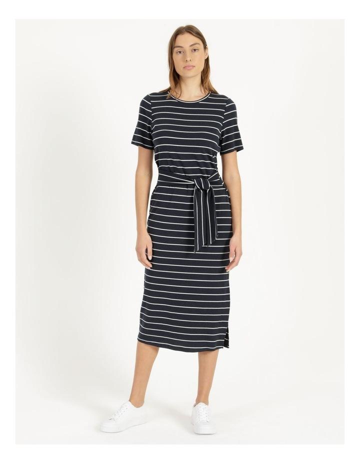 Short Sleeve Jersey Dress in Navy image 1