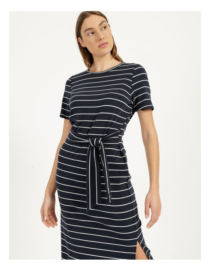 Short Sleeve Jersey Dress in Navy image 4
