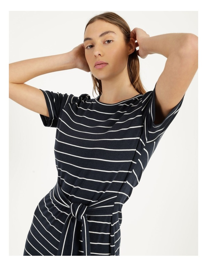 Short Sleeve Jersey Dress in Navy image 5