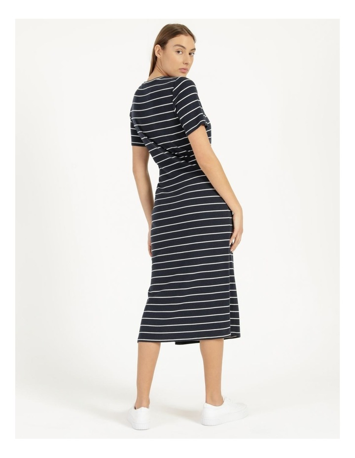 Short Sleeve Jersey Dress in Navy image 6
