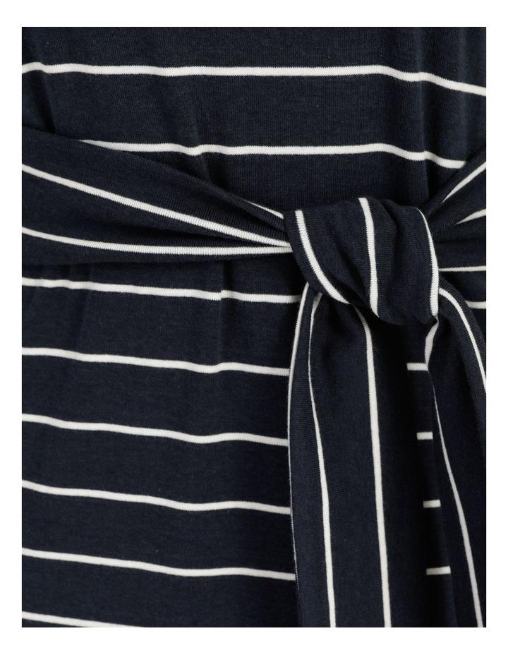 Short Sleeve Jersey Dress in Navy image 7