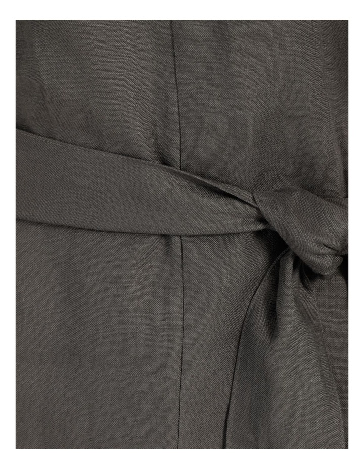 Organic Linen Short Sleeve Linen Dress Black image 7