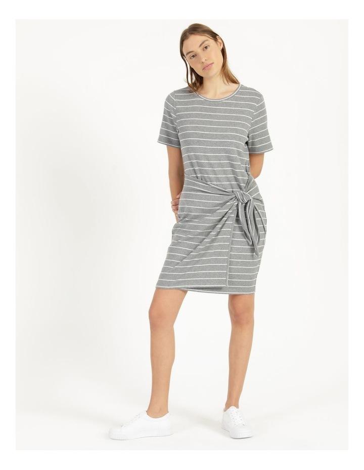 Wrap Front Mini Dress Grey image 1