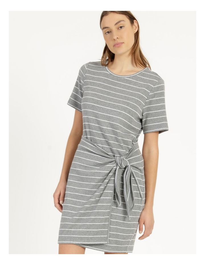 Wrap Front Mini Dress Grey image 2