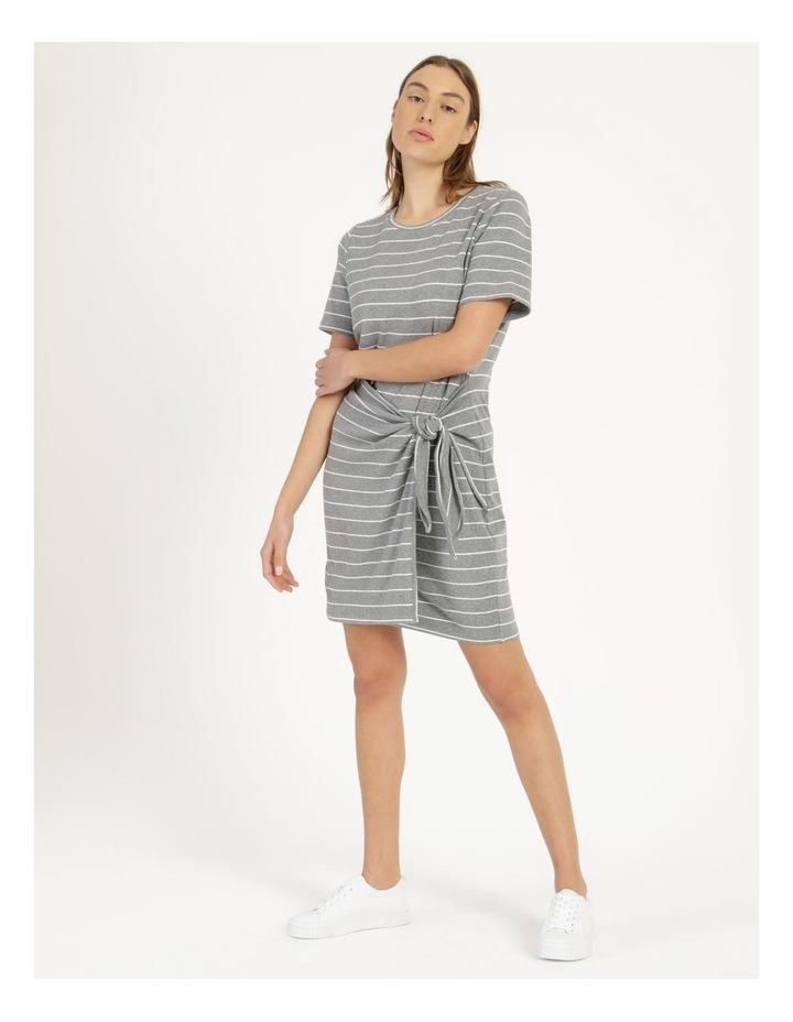 Wrap Front Mini Dress Grey image 3
