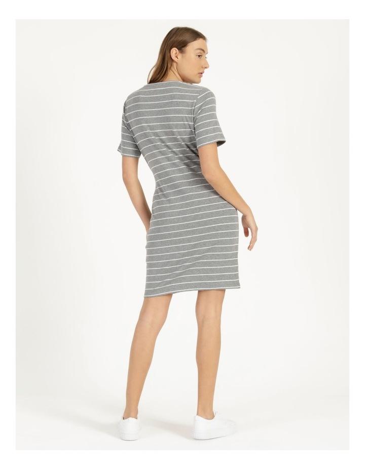 Wrap Front Mini Dress Grey image 4