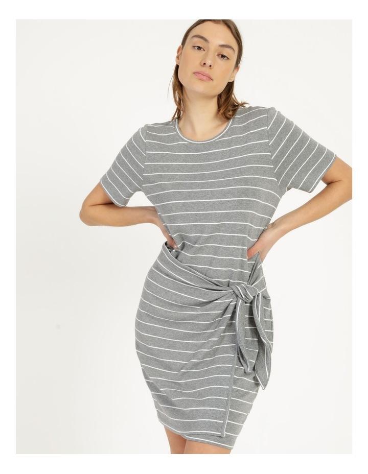 Wrap Front Mini Dress Grey image 6