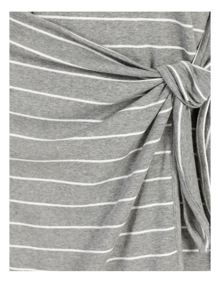 Wrap Front Mini Dress Grey image 7
