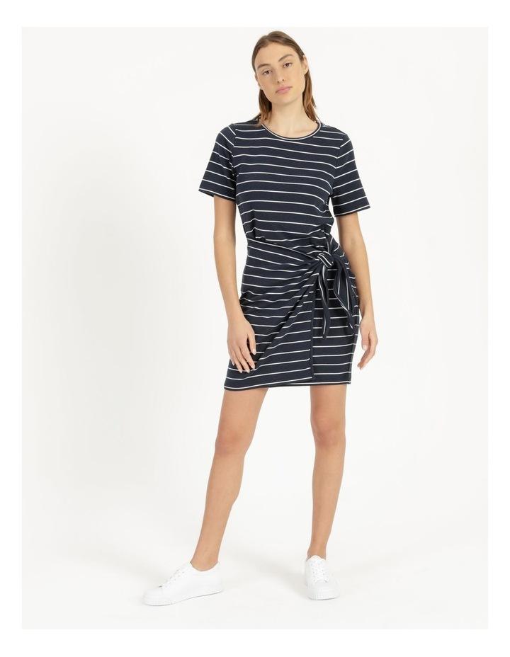 Stripe Mini Dress Navy/White image 2