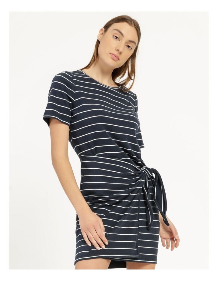 Stripe Mini Dress Navy/White image 5