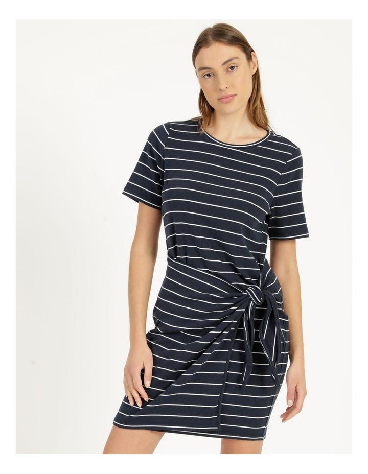 Stripe Mini Dress Navy/White image 6