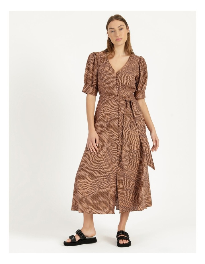 Linen Blend Button Front Dress image 1
